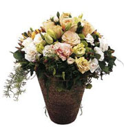 Bouquet de fleurs coupées variées