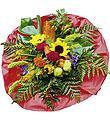 Bouquet de fleurs de saison roses rouges