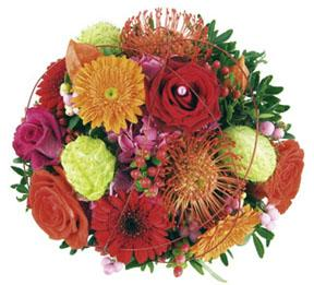 Bouquet of Mixed Flowers Coloured