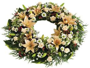 Funeral Wreath with Ribbons