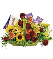 Arrangement in Basket