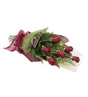 Demi-douzaine de roses,  rouges