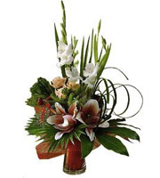 Bouquet of Cut Flowers with vase