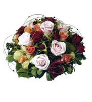Round Arrangement Mixed Roses