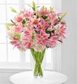Bouquet de Luxueux Lis et d'hydrangea Intriguant