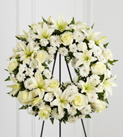 The FTD® Treasured Tribute™ Wreath - Cleveland Ohio