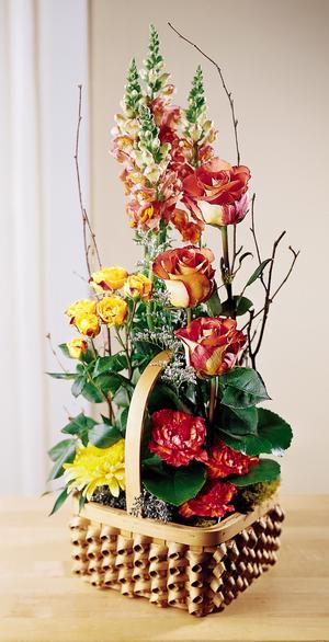 Send colorful baskets of fresh flowers & other sym[pathy gift ideas for same day delivery in Grand Rapids, Byron Center & Holland with Sunnyslope Floral