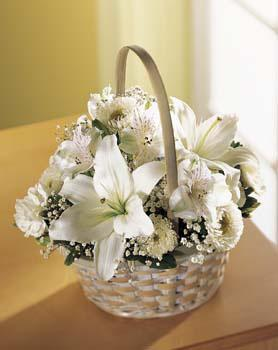 All white funeral flowers & other sympathy gift ideas delivered same day to funeral homes in Grand Rapids, Michigan & nationwide with Sunnyslope Floral