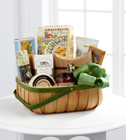 The FTD® Heartfelt Sympathies™ Gourmet Basket Ruth Messmer Florist, Fort Myers Florida Florist