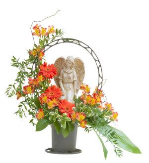 Heaven\'s Sunset Angel Basket