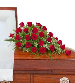 Simply Roses Standard Casket Spray