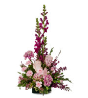 Find Fresh PINK and PURPLE FLOWER Arrangement for SAME DAY DELIVERY in Grand Rapids Metro Area by Sunnyslope Floral