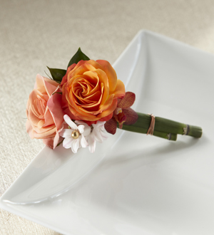 The FTD® Sunset Dream™ Boutonniere