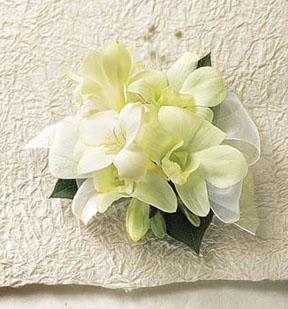The FTD® White Chapel™ Corsage