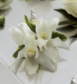 The FTD® White Mini Cymbidium Boutonniere