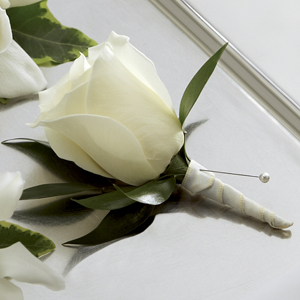 Garden Rose Boutonniere frederick's flowers & greenhouses the ftd® white rose boutonniere