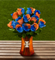 The FTD® University of Illinois™ Fighting Illini® Rose Bouquet- 12 Stems