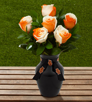 The FTD� Oklahoma State University� Cowboys� Rose Bouquet - 6 Stems