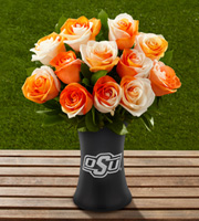 The FTD� Oklahoma State University� Cowboys� Rose Bouquet - 12 Stems