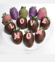 Belgian Chocolate Dipped Love Mom Berrygram