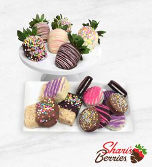 Belgian Chocolate Dipped Mother\'s Day Decadence Combo
