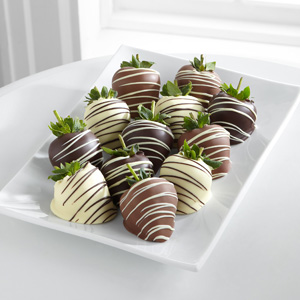 Golden Edibles™ Classic Belgian Chocolate Covered Strawberries - Double Dipped