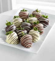 Golden Edibles� Classic Belgian Chocolate Covered Strawberries - Double Dipped