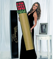 The Ultimate Rose Bouquet - 12 Stems, 4 Foot Roses - No Vase
