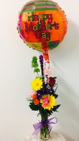 Birthday Celebration With Mylar Bouquet