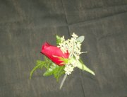 Classic Red Rose Boutonniere