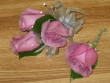 Lavender rose corsage and bout