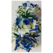 The Shimmer Blue Rose Corsage
