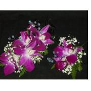 Bombay Orchid Corsage & Boutonniere