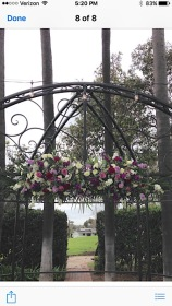 Purple and White Gazebo Decoration