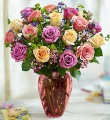 Rose Lovers Bouquet Long Stem Assorted Roses