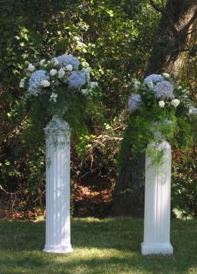 Wedding Urns with Hydrangeas