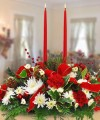 A VERY MERRY CHRISTMAS CENTERPIECE DOUBLE CANDLE