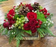 Rustic and Reds Centerpiece