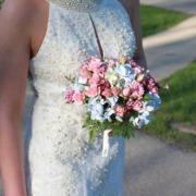 Pink Roses & Hydrangea Nosegay