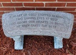 Heart of Gold Garden Bench