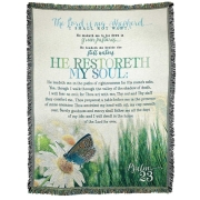 PSALM23 He Restoreth My Soul Throw