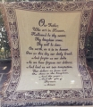 Our Father Who Art in Heaven- Lord's Prayer Afghan