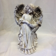 Stone-colored Angel with Birdbath
