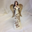 Angel with burlap detail