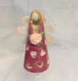 Pink Angel Tealight Holder