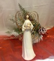 Christmas Angel with Gold Wings and Candle