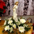 Joy to the World! Christmas Angel with Fresh Flowers