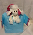 Plush Animal in Blue T-shirt Bag