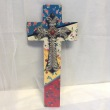 Wall Cross with blue, white, yellow and red