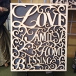 Love and Blessings Wooden Wall Décor